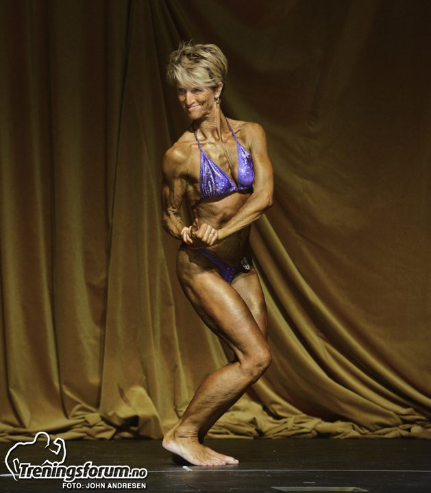 Marit Lie. Norwegian Champion in category Ms. Physique + 60 years